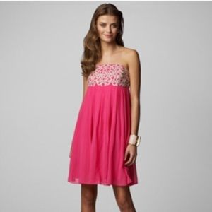 Lilly Pulitzer Jillie chiffon dress daiquiri pink